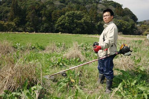 草刈中の写真
