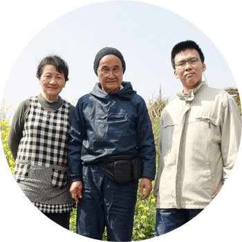農作業中の桜島ふれんずメンバー